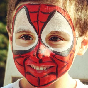 superhero face paint ct